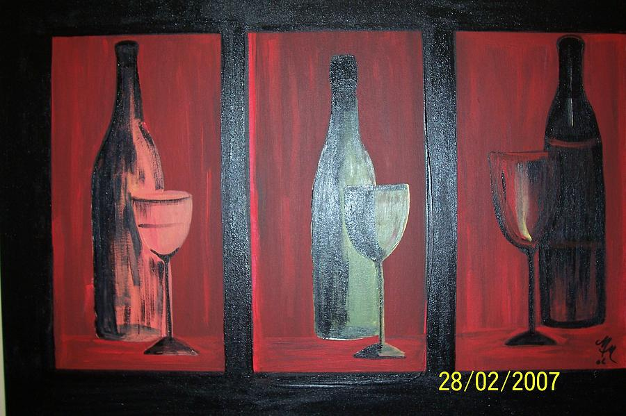 Stilllife Print - Red Wine by Martha Mullins