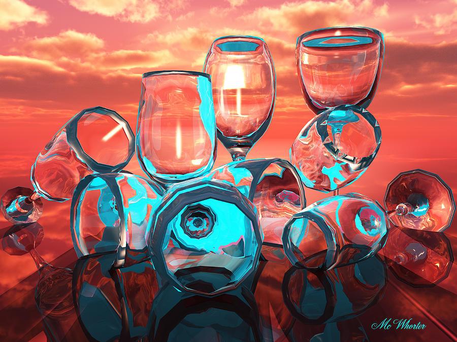 3d Painting - Merlot by Williem McWhorter
