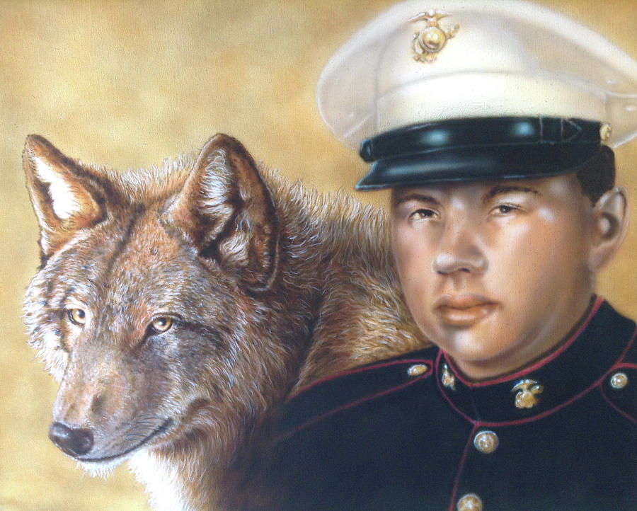 Red Wolf Painting by Wayne Pruse