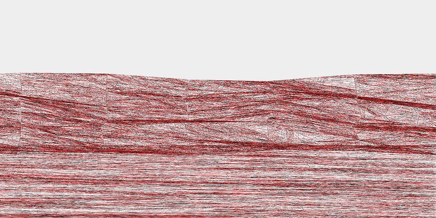 Red.316 Digital Art by Gareth Lewis