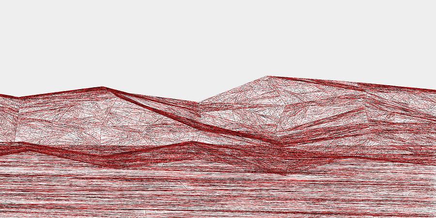 Red.317 Digital Art by Gareth Lewis