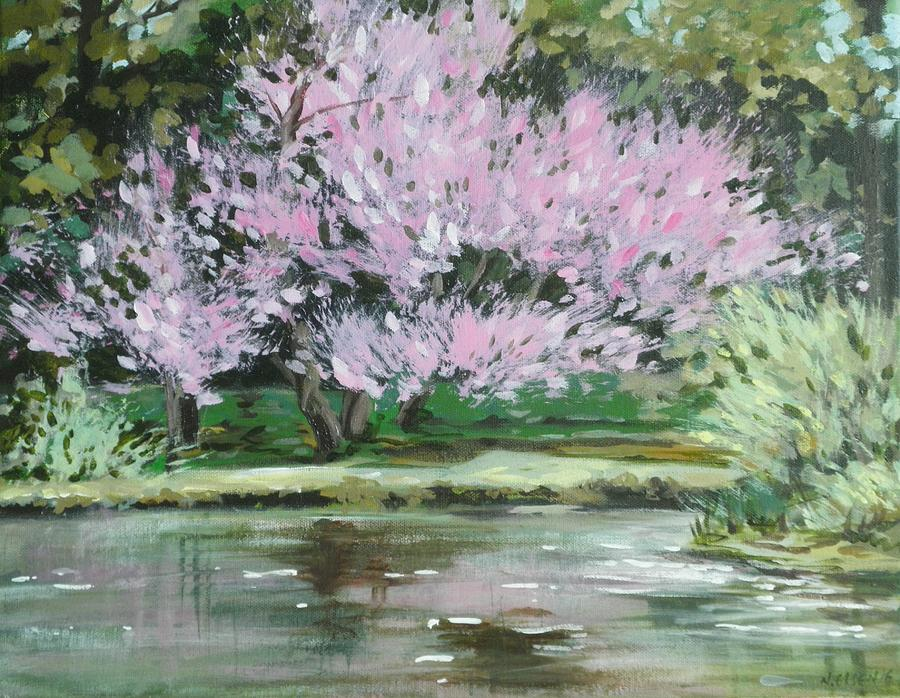 Redbud Reflections by Outre Art Natalie Eisen