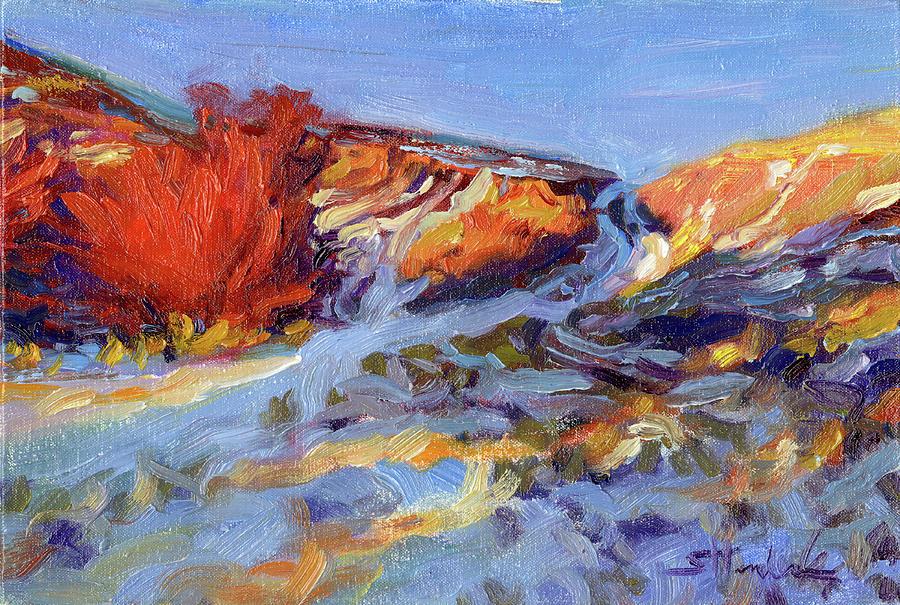 Landscape Painting - Redbush by Steve Henderson