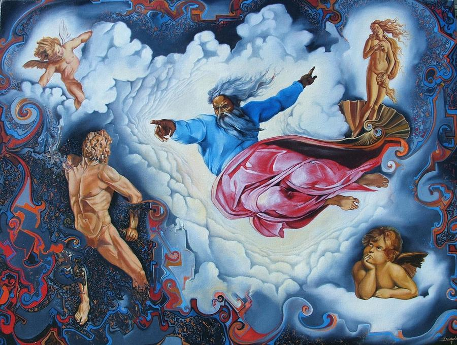 Surrealism Painting - Redemption by Darwin Leon