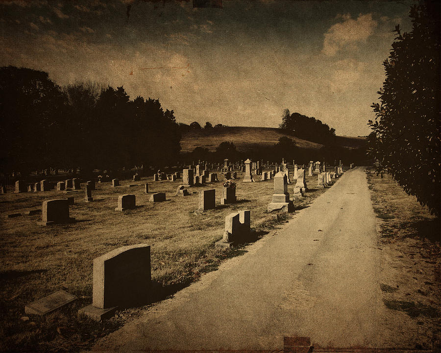Graveyard Photograph - Redemption Road by Amy Tyler