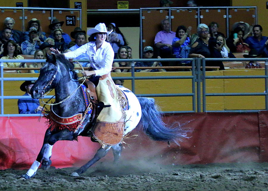 Rodeo Queen Photograph - Rodeo Queen At The Grand National Rodeo by John King