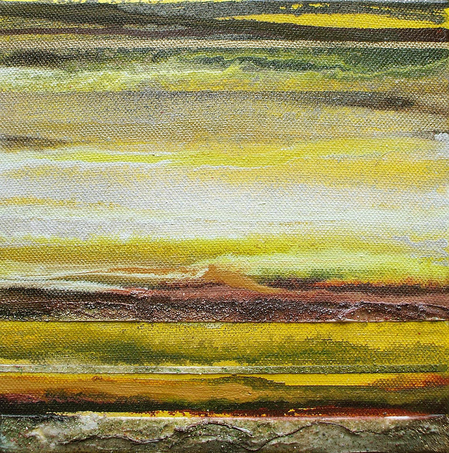 Redesdale Rhythms And Textures Series No3 Yellow And Sepia Mixed Media by Mike   Bell