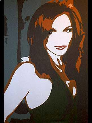 Redhead Commissioned Portrait Painting by Michael James  Toomy