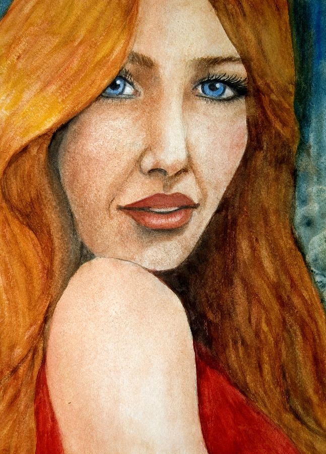 Redhead In October by Barbara J Blaisdell