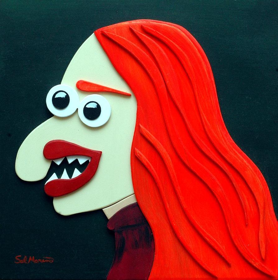 Funism Sculpture - Redhead by Sal Marino