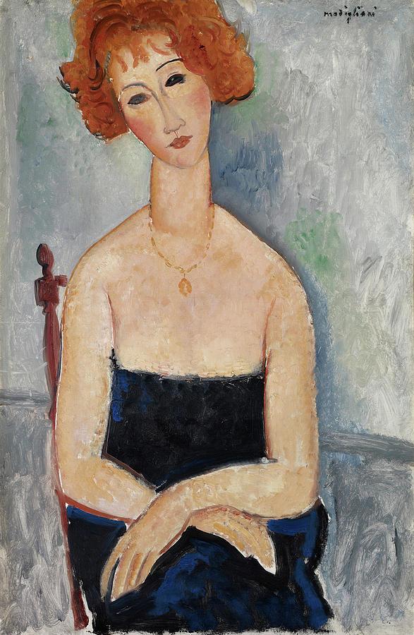 Redhead Painting - Redheaded Girl by Amedeo Modigliani