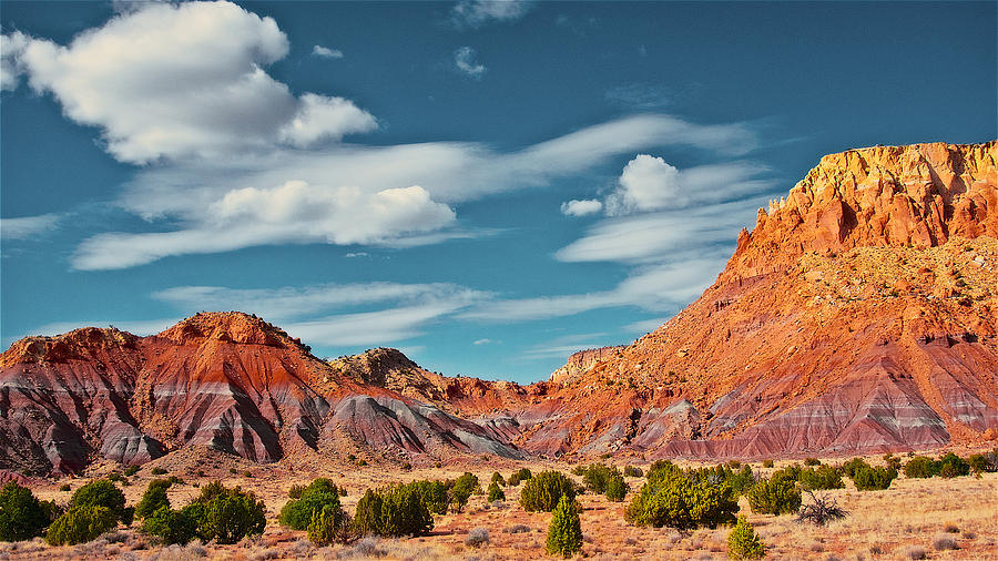 Nature Photograph - Redlands and Sky by Zayne Diamond Photographic