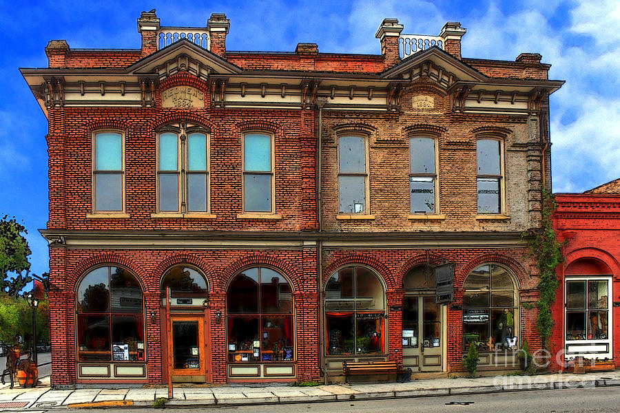 Brick Photograph - Redmens Hall - Jacksonville Oregon by James Eddy