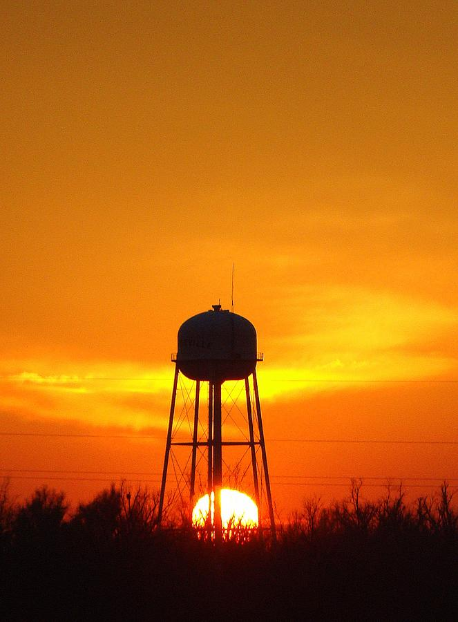 Sunset Photograph - Redneck Water Heater For Whole Town by J R Seymour