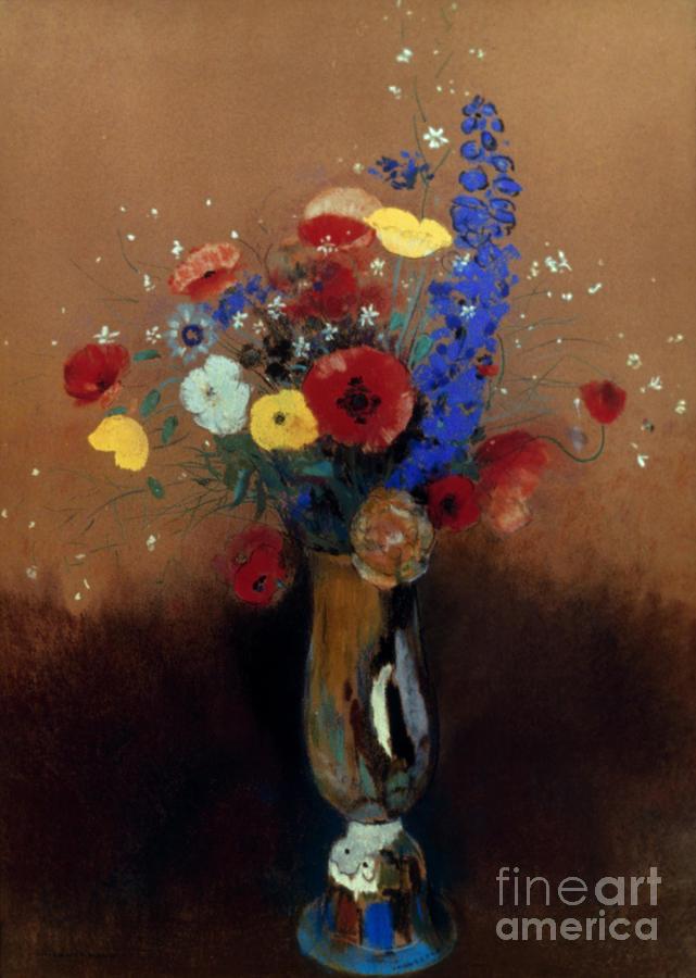 1912 Photograph - Redon: Wild Flowers, C1912 by Granger