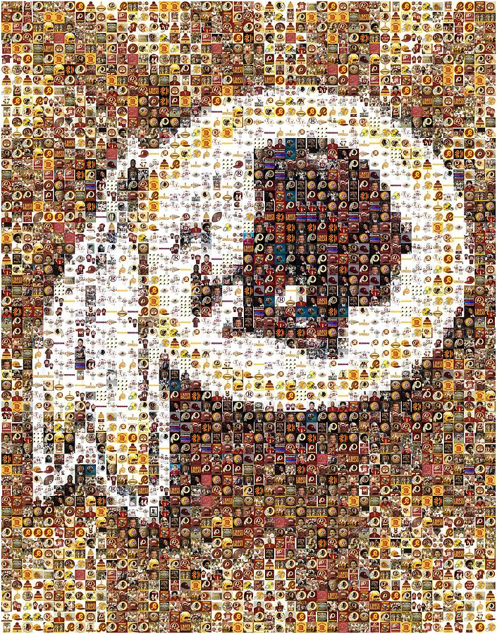 Washington Redskins Digital Art - Redskins Mosaic by Paul Van Scott
