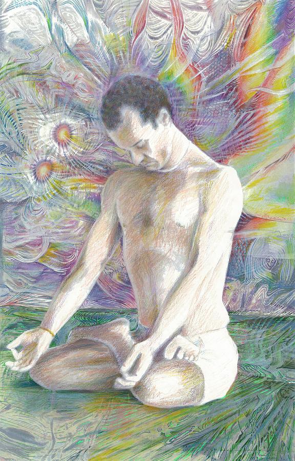 Yoga Drawing - Reduire Au Silence  by Jeremy Robinson