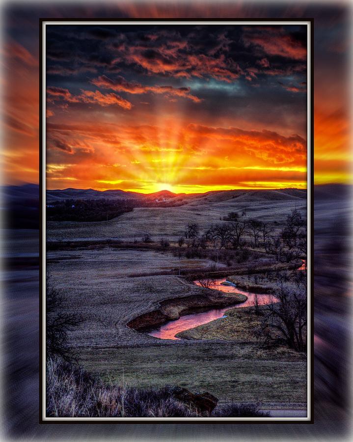 Redwater River Sunrise by Fiskr Larsen