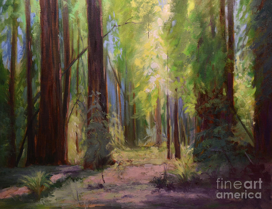Redwood Cathedral Armstrong Redwood Grove Oil Painting ... Redwood Tree Painting