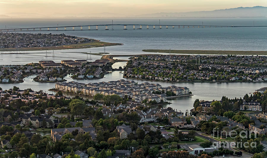 Redwood City Photograph - Redwood City, California Aerial by David Oppenheimer