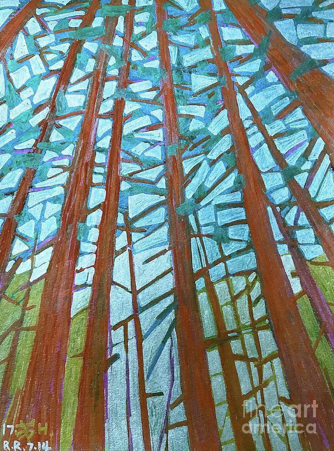 Nature Painting - Redwood Trees by Wonju Hulse