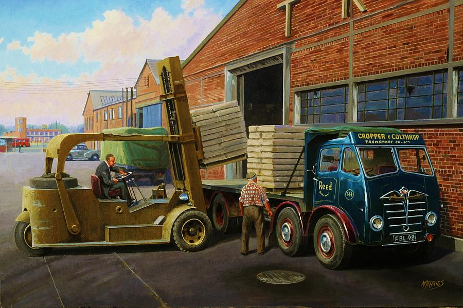 Truck Painting - Reed Paper Foden Fg by Mike  Jeffries