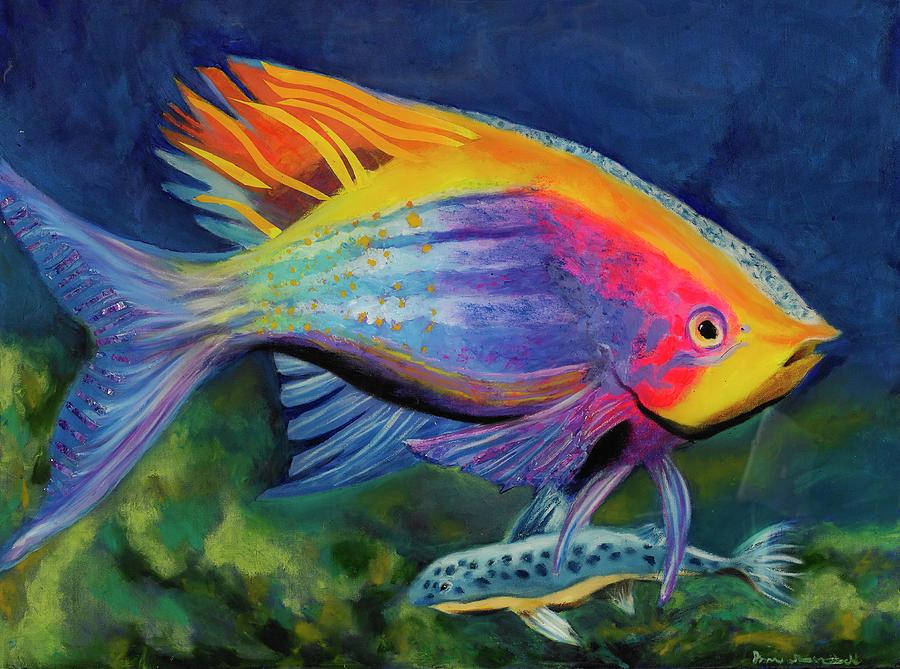 Anthias Painting - Reef Jewel by Jason Rosenstock