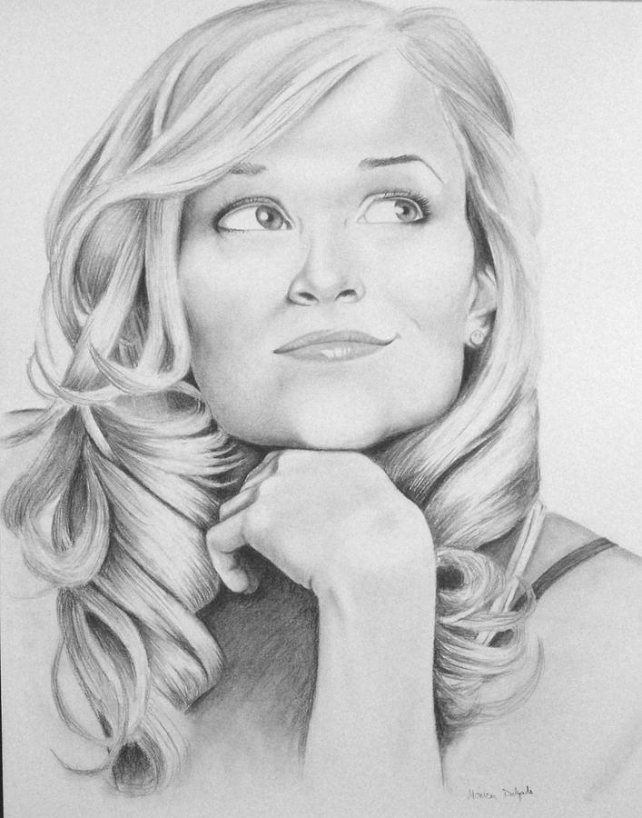Reese Witherspoon Drawing by Monica Delgado