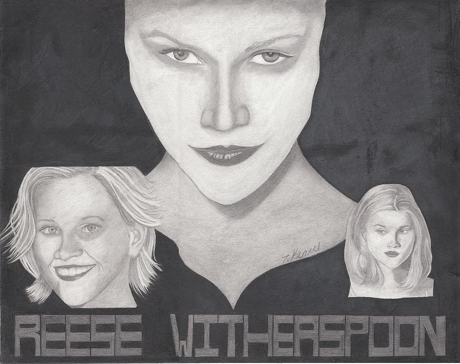 Reese Drawing - Reese Witherspoon by Tara Kearce
