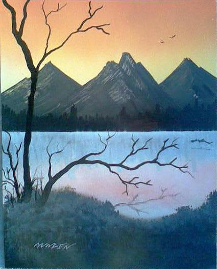 Mountain Painting - Reflect by Jonathan Munden