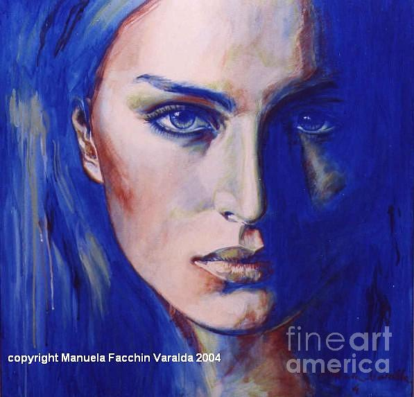 Blue Painting - Reflect One by Manuela Facchin Varalda