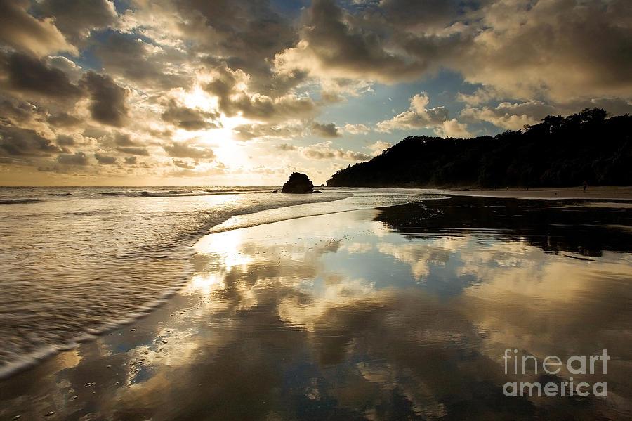 Beach Photograph - Reflected Costa Rica Sunset by Matt Tilghman