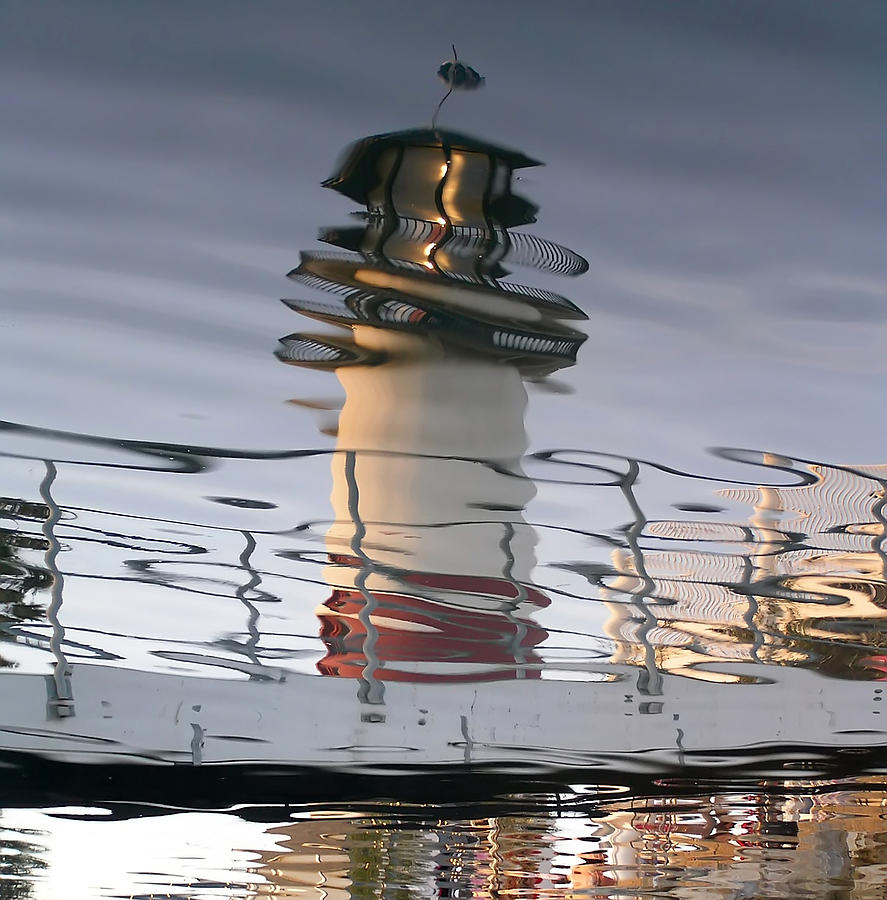 Reflected Lighthouse Abstract Photograph by Chuck Cannova