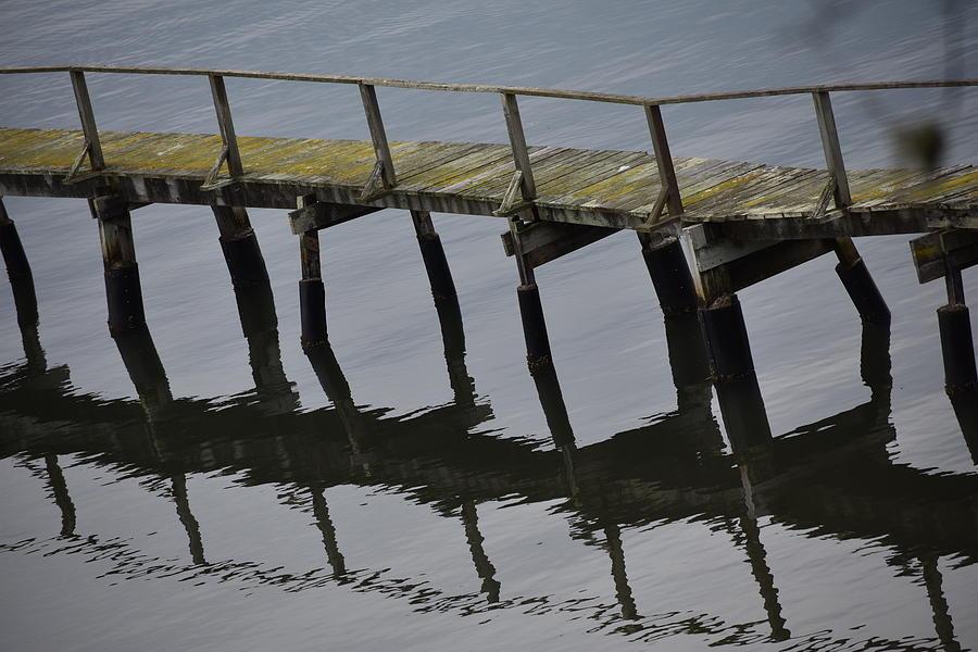 Pier Photograph - Reflected Pier by D Patrick Miller