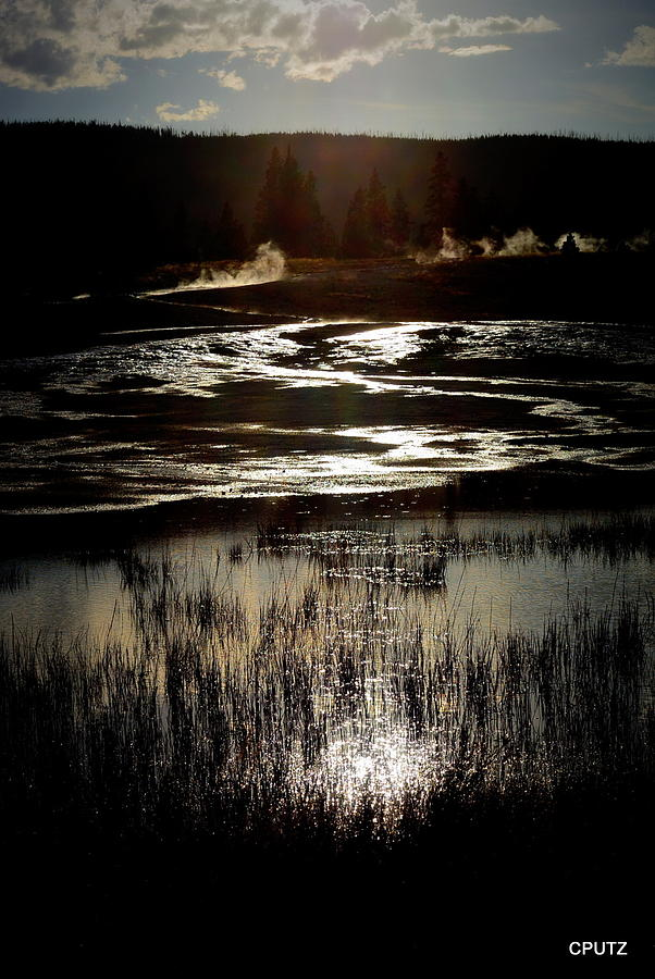 Yellowstone National Park Photograph - Reflected Sunset by Carrie Putz