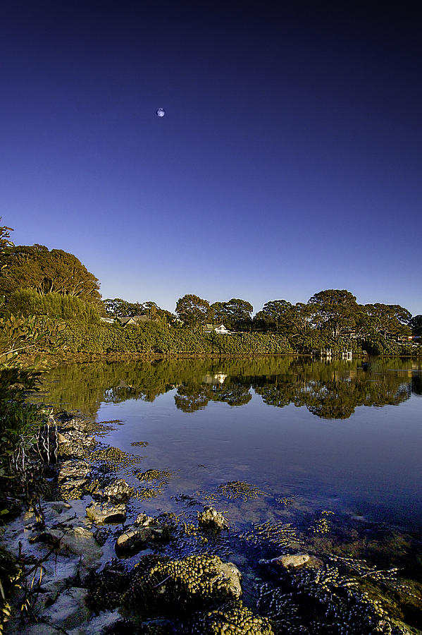 Moon Photograph - Reflected Tranquility by Chris Hood
