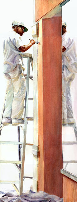 Watercolor Painting - Reflected Work by Carolyn Epperly