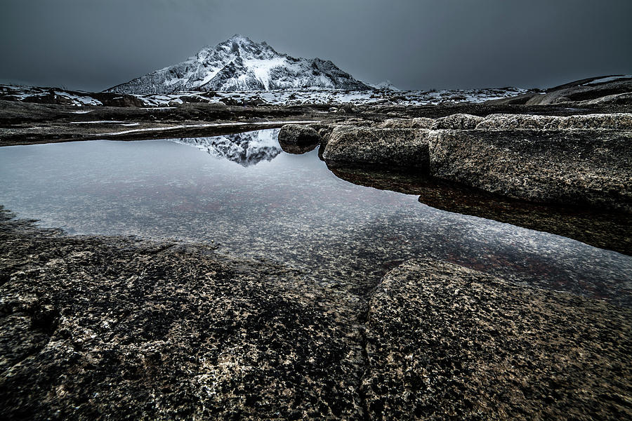 Norway Photograph - Reflecting Mountain by Sebastian Worm
