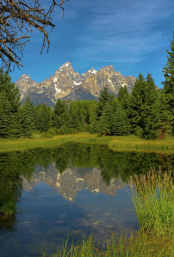 Teton Mountains Photograph - Reflecting on the Tetons by Jeff Kurtz