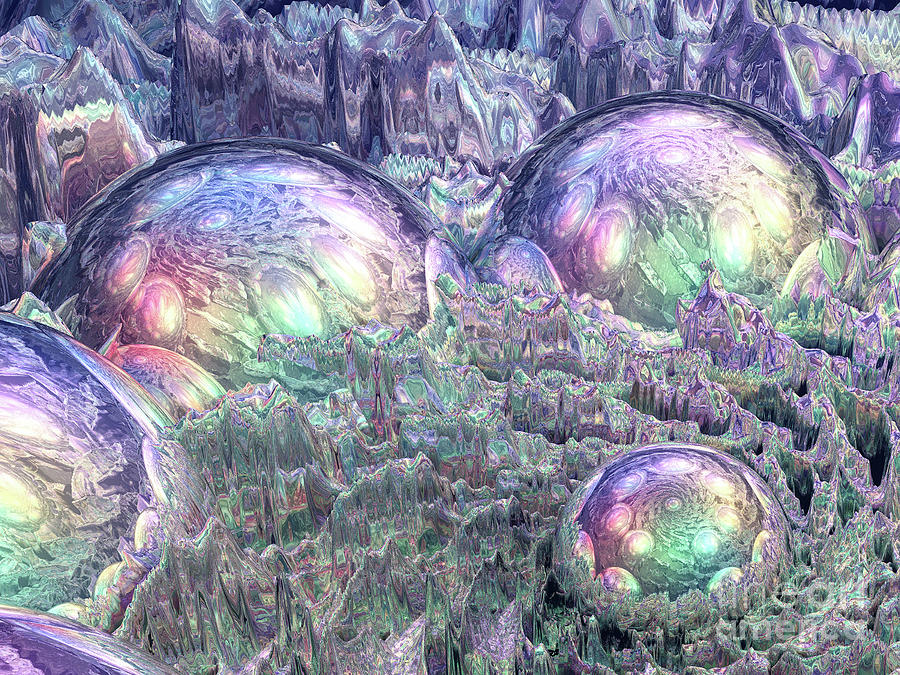 Reflection Digital Art - Reflecting Spheres In Space by Phil Perkins
