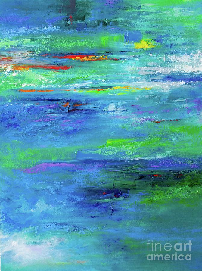 Abstract Painting - Reflection-2 by Nutthawee Charusrisith