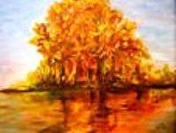 Tree Painting - Reflection by Clara  Bierman