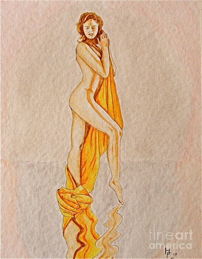 Nude Painting - Reflection by Herschel Fall