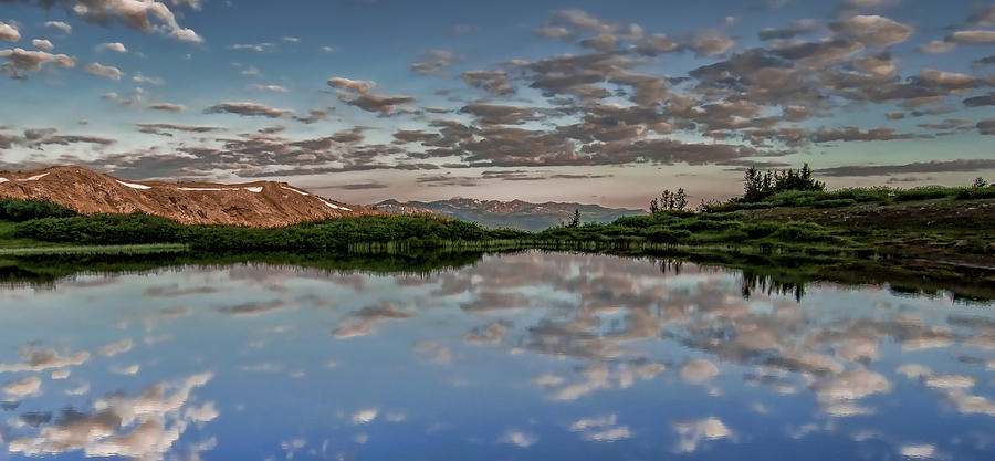 Pond Photograph - Reflection In A Mountain Pond by Don Schwartz