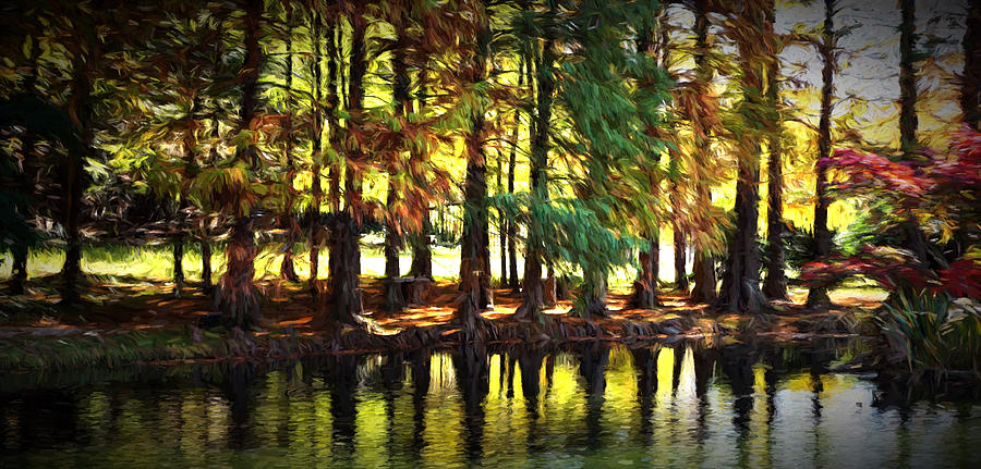Reflection In Paint Photograph by Ann Keisling