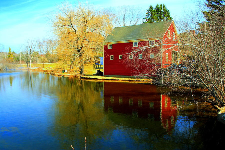 Fall Photograph - Reflection In Red by Doug Mills