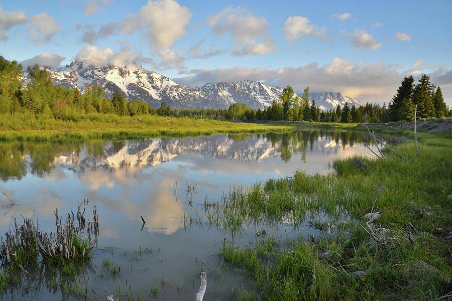 Grand Teton National Park Photograph - Reflection In Snake River At Grand Teton by Ray Mathis
