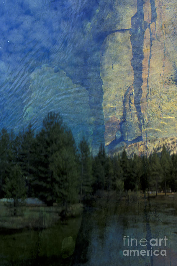 California Photograph - Reflection In The Merced River by Stan and Anne Foster