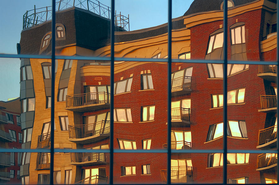 Glass Photograph - Reflection Le Selection by Elisabeth Van Eyken