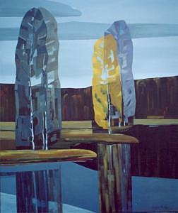 Autumn Landscape Painting - Reflection by Ludmila Kalinina